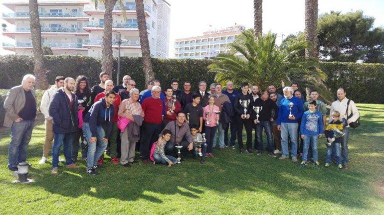 Participantes en el II Torneo Internacional Villa de Xàbia de ajedrez