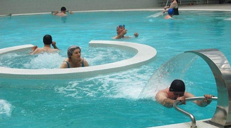 Usuarios de un balneario