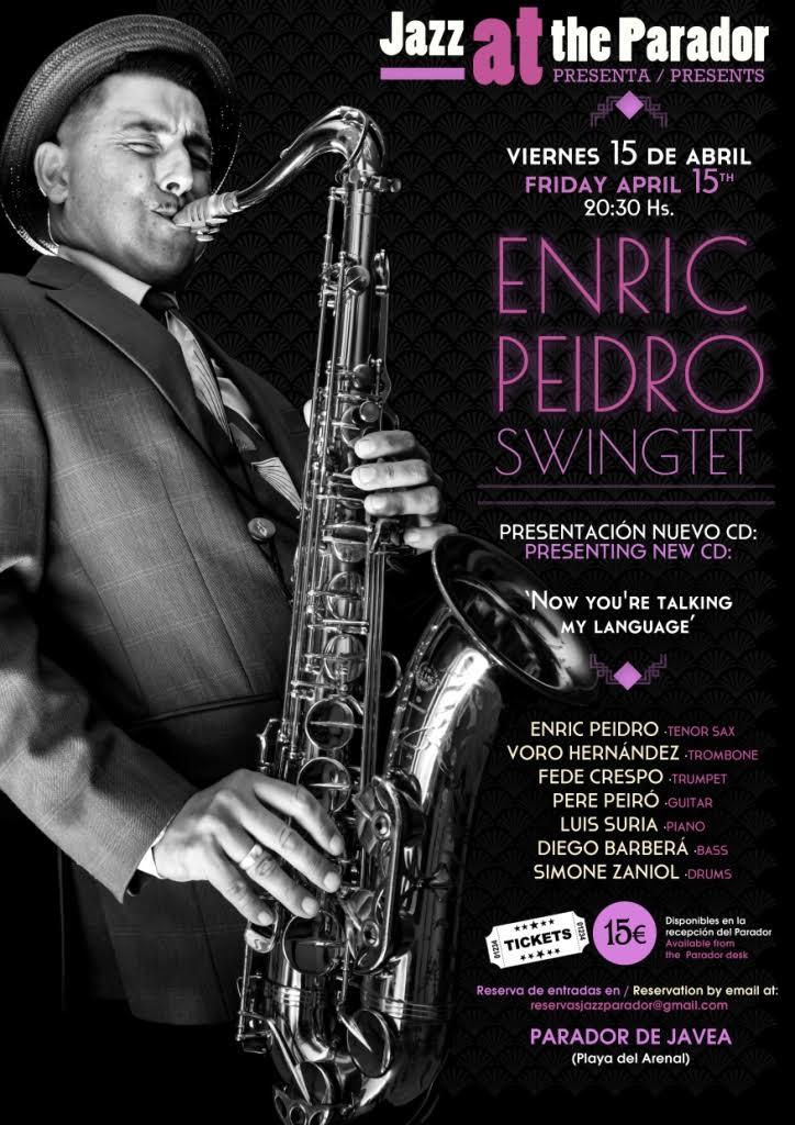 Cartel concierto de Enric Peidro
