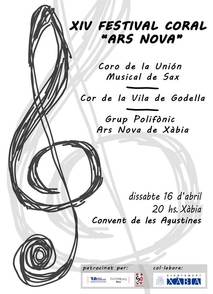 Cartel del concert polifonic Ars Nova