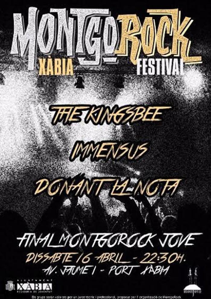 Cartel del Concurso de Bandas Montgorock Festival