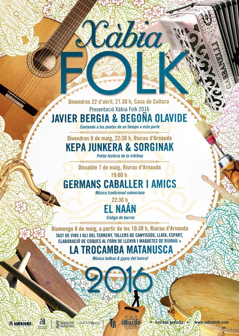 Cartel Festival Xàbia Folk 2016