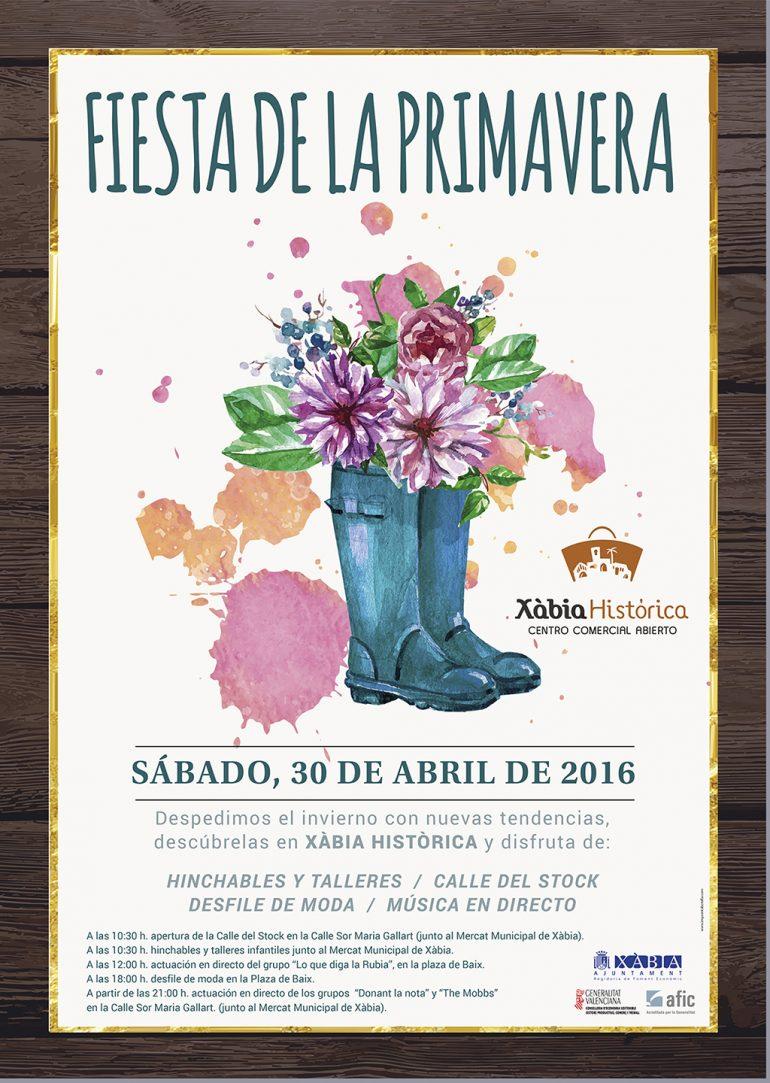 Cartel Fiesta de la Primavera en Xàbia