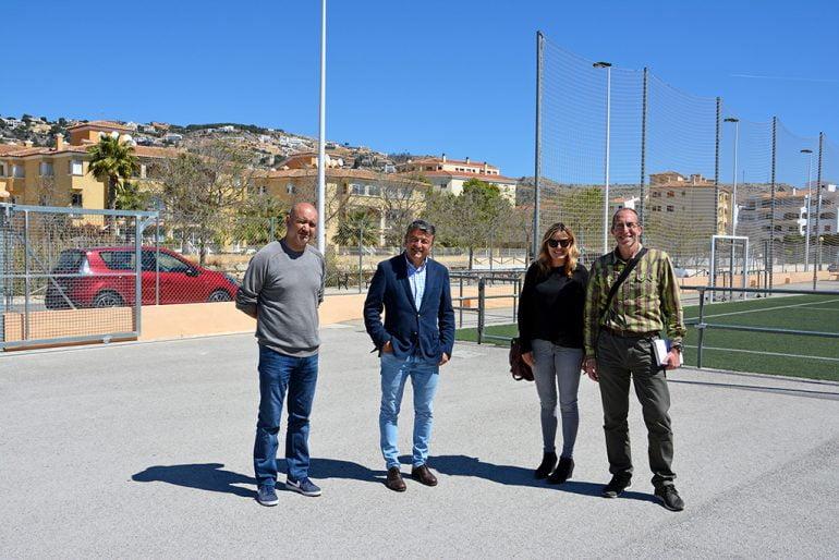 Chulvi, Colomer y Mata en el campo de Les Mesquides