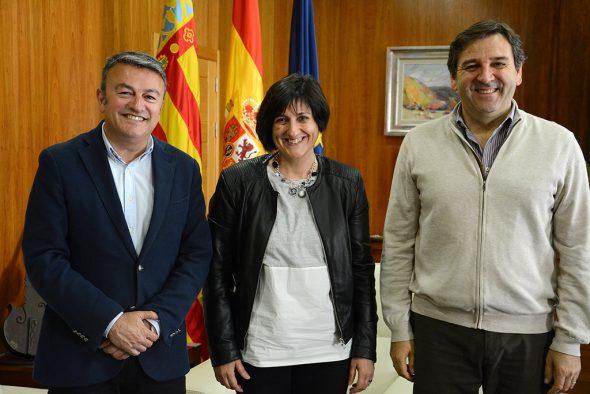 Chulvi con Sefa Ribes y Antonio Miragall