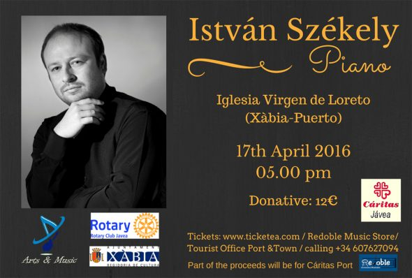 Concierto del pianista István Székely en Xàbia