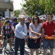 Corte de cinta en el Trofeo Nazareno de Ciclismo en Xàbia