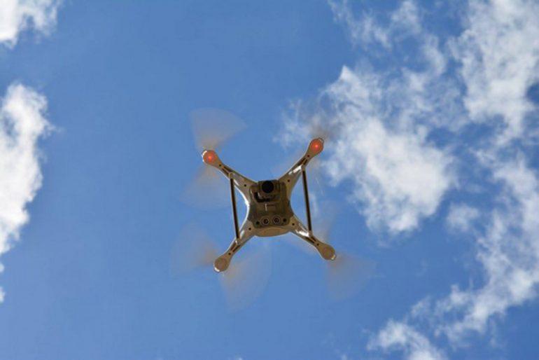 Dron utilizado en el rescate