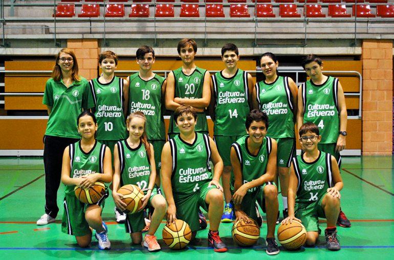 Equipo infantil mixto del CB Joventut Xàbia