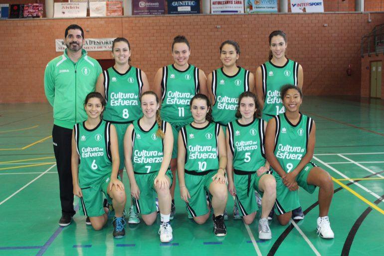 Equipo junior Femenino del CB Joventut Xàbia