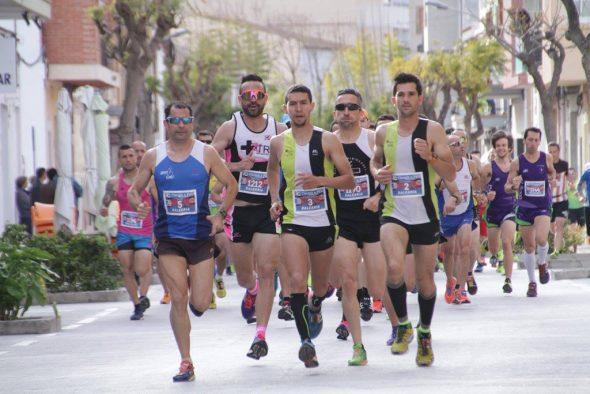 Los atletas del CA Llebeig en los primeros puestos