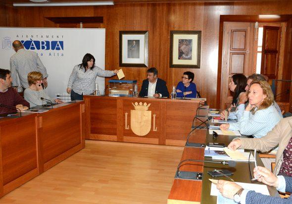 Marta Bañuls votando