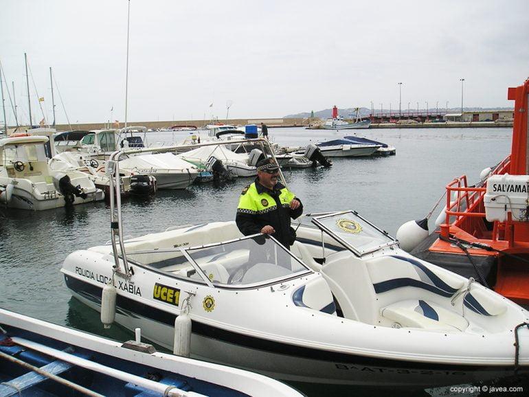 Nueva embarcación de la Policía Local de Xàbia