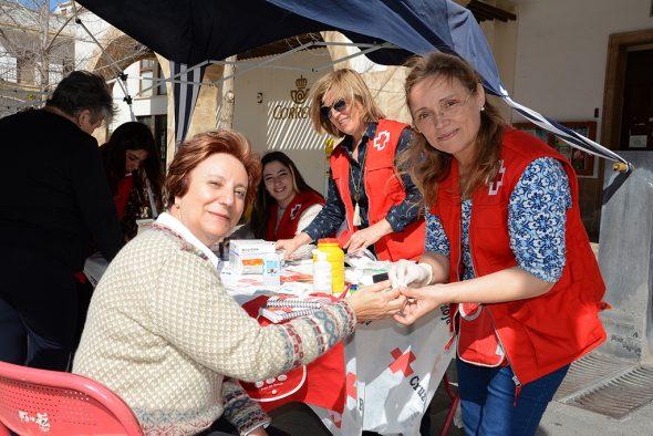 Pilar Zamora apoyando la campaña de la Diabetes B