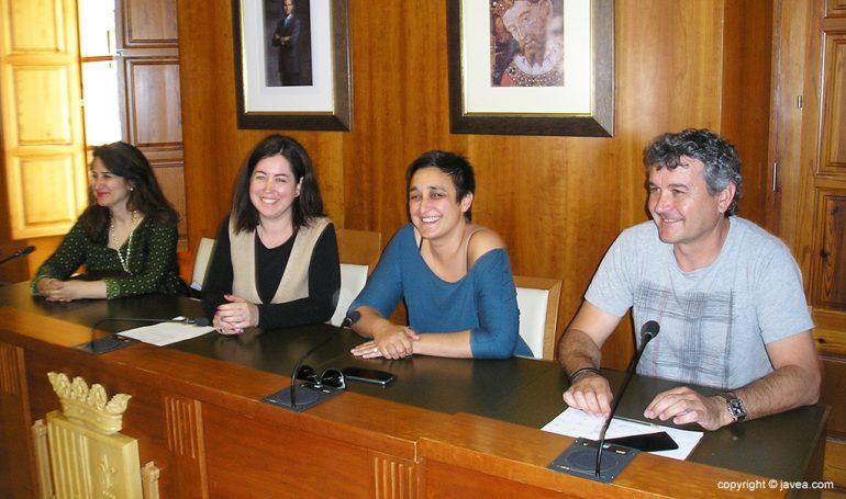 Montse Villaverde en la presentación de los Talleres de Diversidad sexual