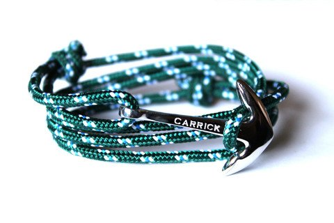 Pulsera cangreja en ancla plateada de Infinity Jewellery & Gentelman
