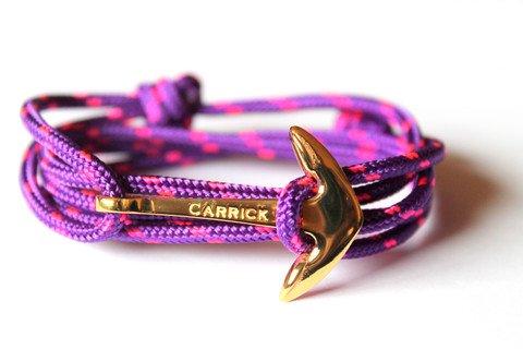 Pulsera marinera en ancla dorada Infinity Jewellery & Gentelman
