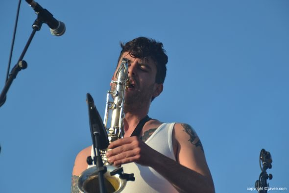 El saxofonista de La M.O.D.A