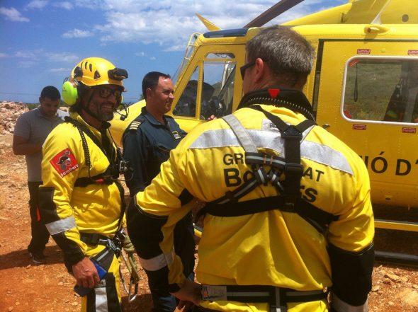 Equipo de bomberos de rescate