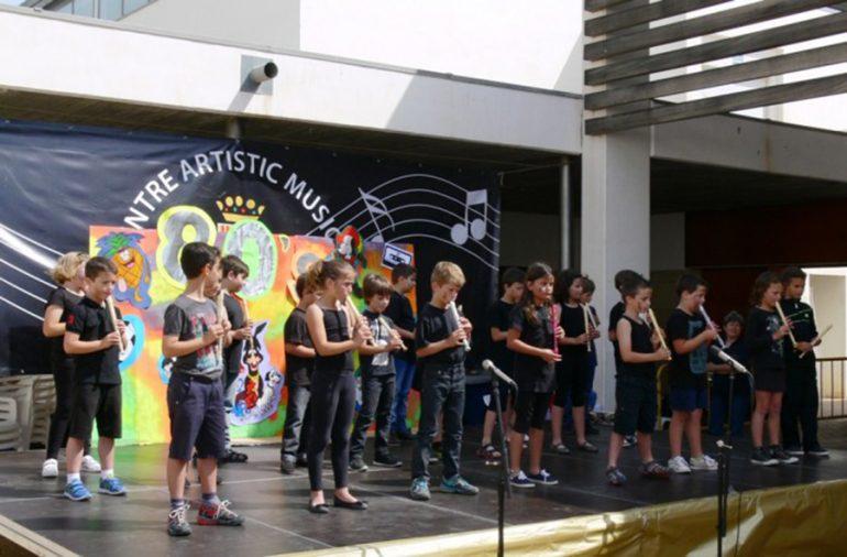 Los alumnos del curso de  iniciación musical de Xàbia