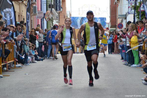 Mª Isabel Ferrer y José Antonio Cecilia llegando a meta