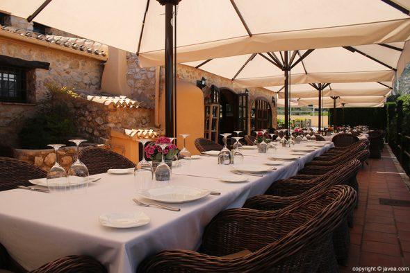 Mesa Restaurante Vall de Cavall
