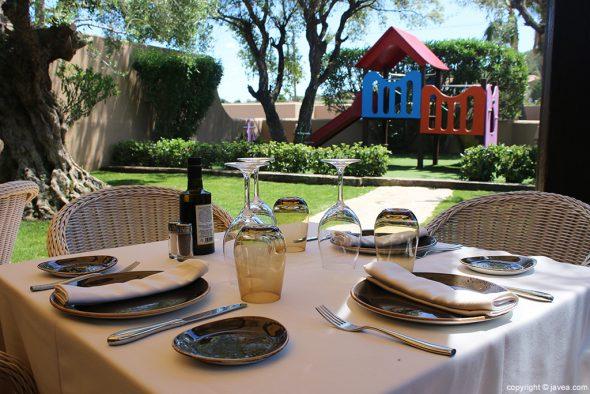 Mesa terraza Restaurante Masena