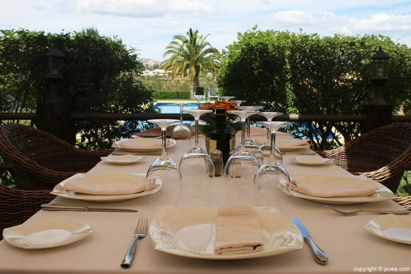 Mesa vistas Restaurante Vall de Cavall