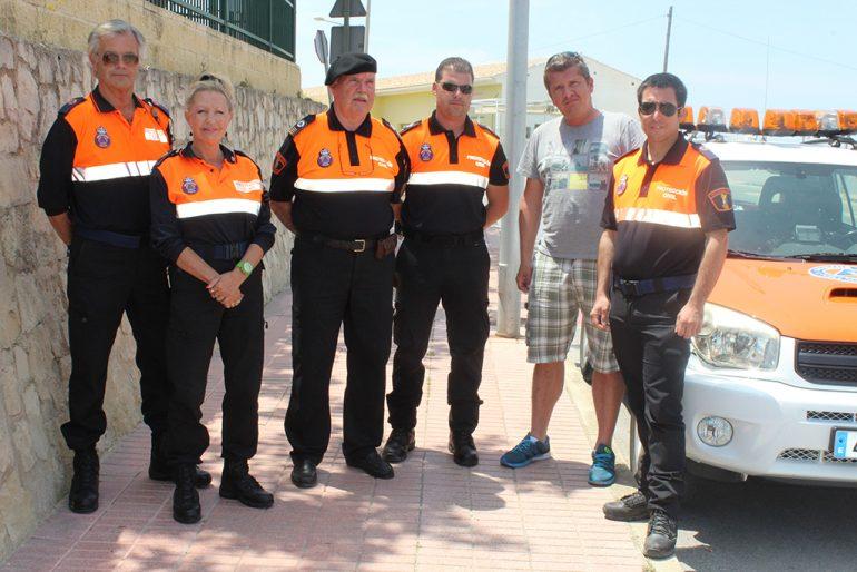 Miembros de Protección Civil de El Poble Nou de Benitatxell