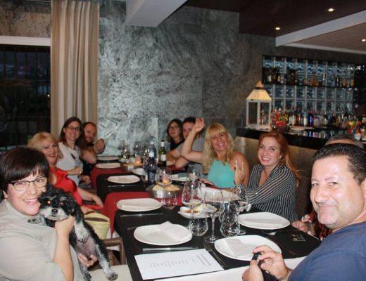 Participantes en la cena de RAMA