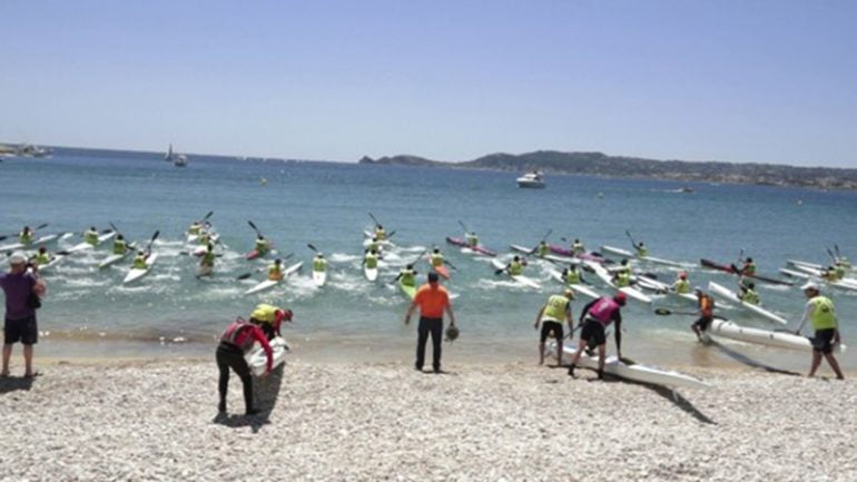 Salida de Kayak desde la Playa de La Grava