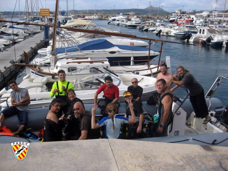 Participantes en el campeonato autonómico de fotografía Subacuática