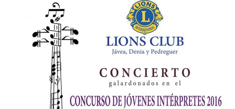 Cartel del Concierto Lions Jávea