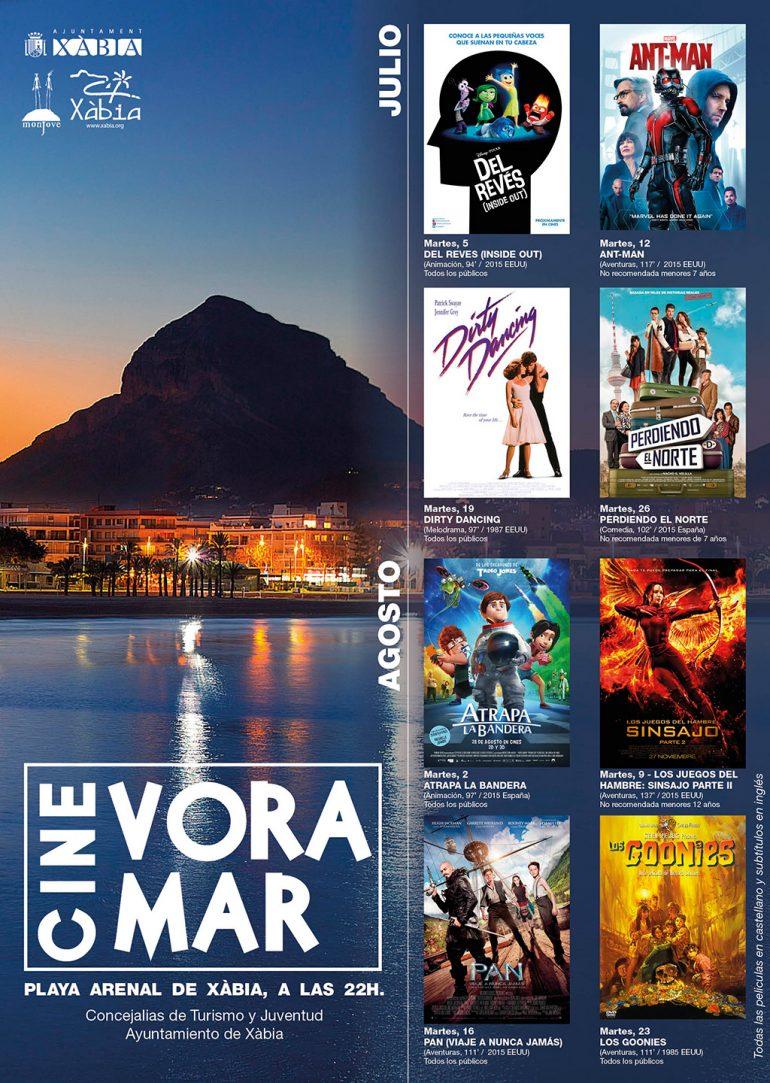 Cartel del Cine Vora Mar en Xàbia