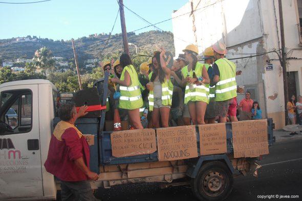 La Quintà-2016 en un camión de obras