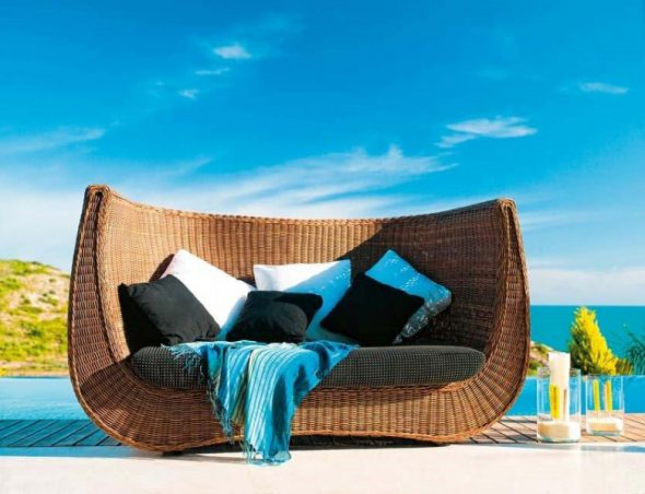 Sofa de mimbre bypatriciaalvarezexpormimMuebles Martinez