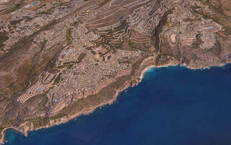 Vista aérea de la Costa de Benitatxell