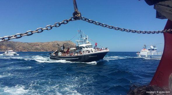 Barca en la procesión de la virgen del Carmen