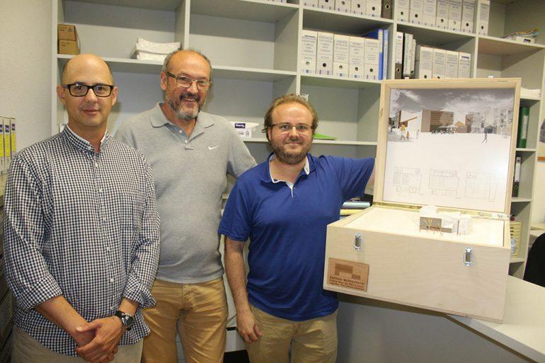 Femenía junto a Jorge Antonio Ruiz Boluda y Paul Dieterlen