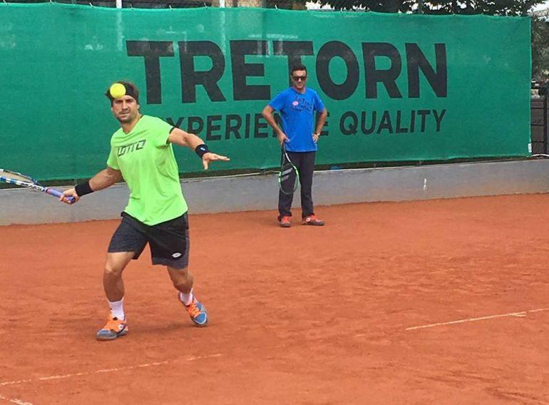 David Ferrer entrenando en Bastad