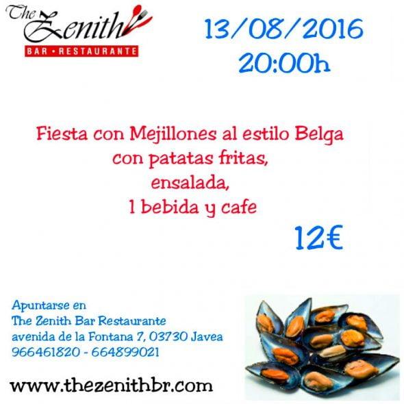 Fiesta mejillones Restaurante Zenith