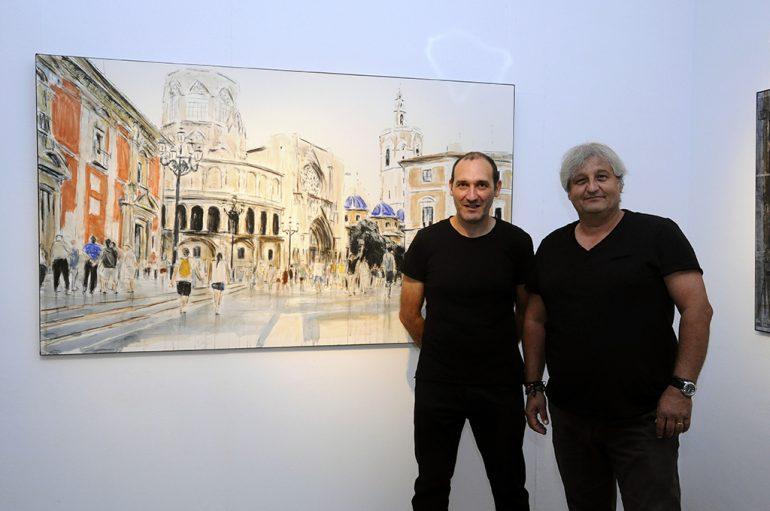 El pintor Josep Barceló junto a Quico Moragues
