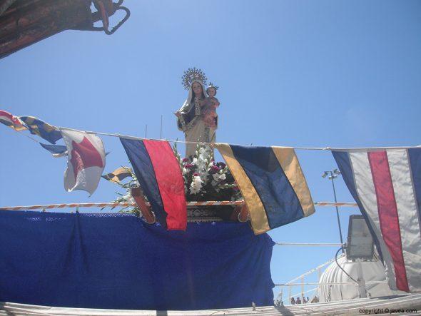 La virgen del Carmen en el barco