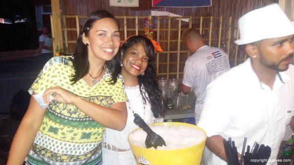 Las bellas cubanas en su pabellón