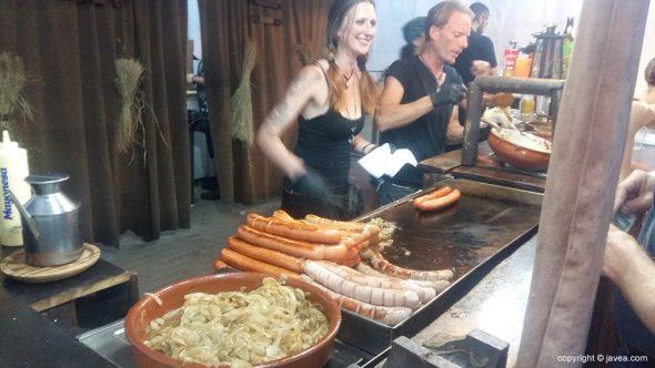 Las salchicas habituales en el Festival