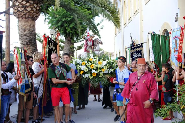 Llegada de Sant Jaume al Asilo Hnos. Cholbi