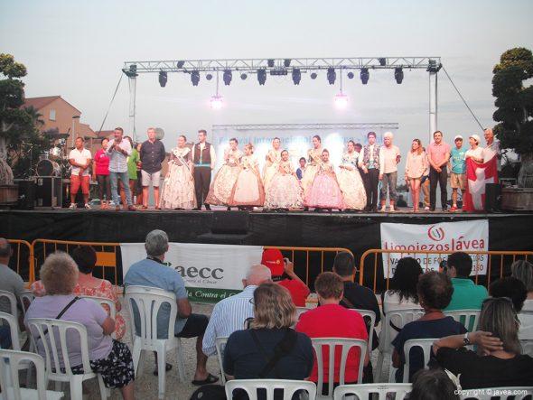 Momento de la inauguración del Festival Internacional de  Xàbia