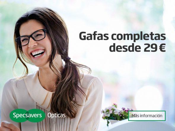 Oferta gafas Specsavers Opticas