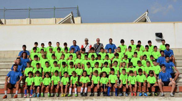Alumnos participantes en el campus de fútbol