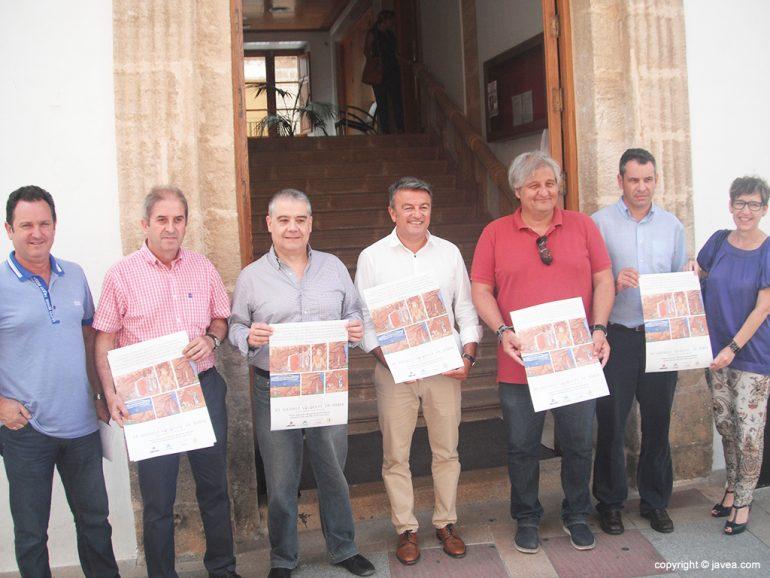 Participantes en la presentación del XX Ajedrez Viviente de Xàbia